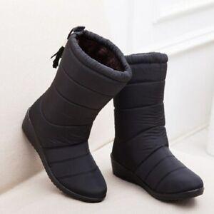 Details about  /Botas Boots de Mujer para Nieve Lluvia Impermeable de Invierno con Plataforma