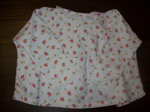 Puppen & Zubehör alte babyjacke aus baumwolle,schönes blumenmuster Babypuppen & Zubehör