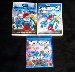 SMURFS-THE-LOST-VILLAGE-New-Blu-ray-Digital-HD-SMURFS-1-amp-2-DVD-Animation