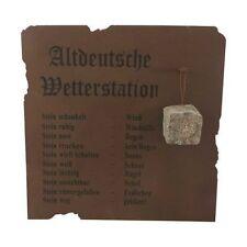 Altdeutsche Wetterstation, 70 x 70cm, Metall, Wanddeko, Gartendeko