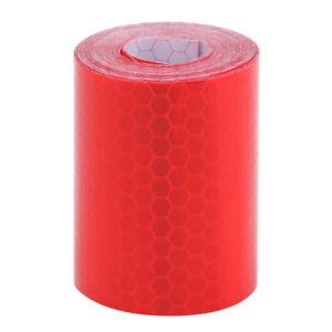 Rot-Streifen-Reflektierende-Aufkleber-Reflektor-selbstklebend-fuer-Auto-5x300cm