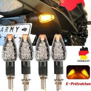 4x-LED-Miniblinker-Microblinker-Blinker-Motorrad-Roller-E-Pruefzeichen-fuer-Honda
