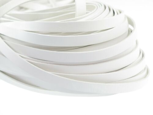 White Leather Straps Leather Band From 1,8 €// M Flat 10 x 2 Mm