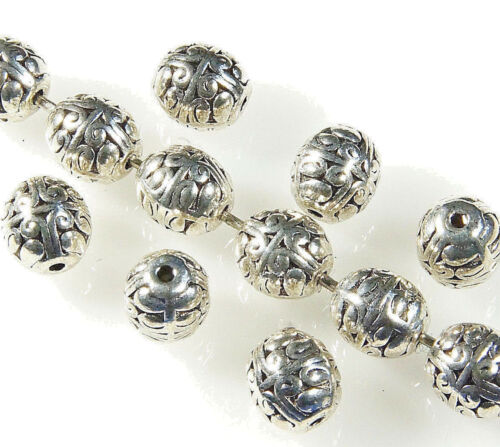 8 x 7 MM 20 x ANTIQUE~SILVER~OR~GOLD~ROUND~TIBETAN STYLE~SPACER BEADS