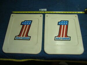 EPS14703-NOS-old-Harley-AMF-1-red-white-blue-mud-flaps-mudflaps-WOW
