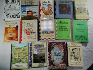Church and Community Cookbooks Cook Books:  Lot of 14 Volumes