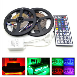 10m 32ft Rgb 5050 Smd Led Strip Light 300leds 12v 44 Key Ir Remote Controller 696277859825 Ebay
