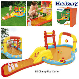 Bestway-Kids-Lil-039-Champ-Inflatable-Play-Centre-Paddling-Pool-Garden-Outdoor-Game
