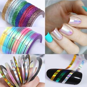 1mm 2mm 3mm Nail Art Striping Tape Line Adhesive Sticker Decals