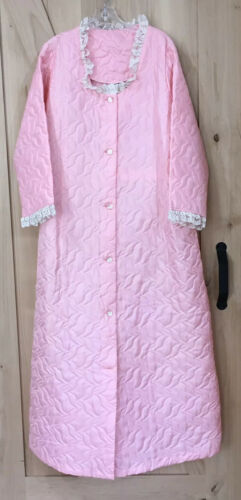 Vintage Pink Quilted Robe House Coat Montgomery Wa