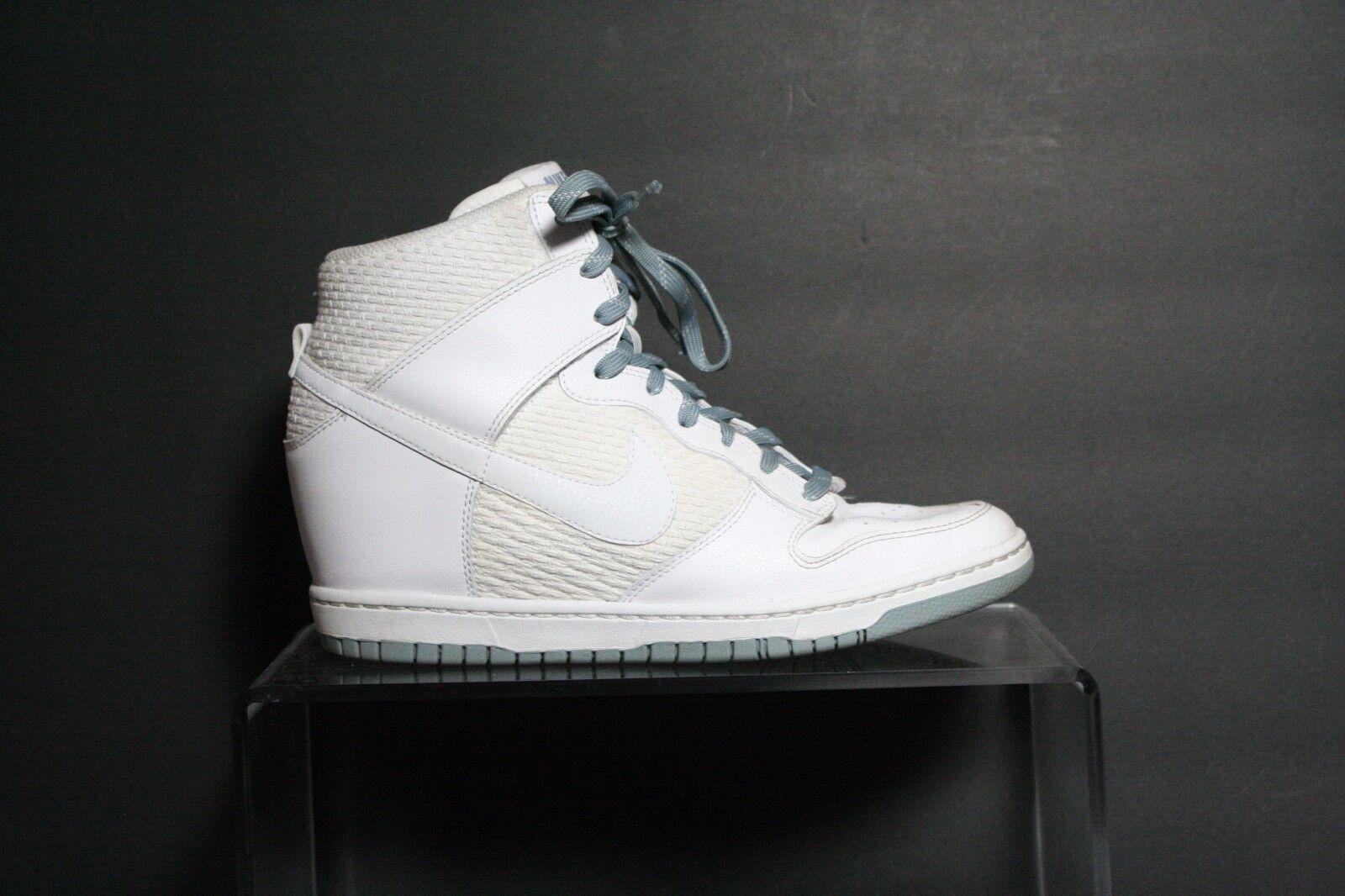 Nike Dunk Sky High High High Essential 14' Sneaker Athletic Multi Hip Women 11 White EUC a1c6e5