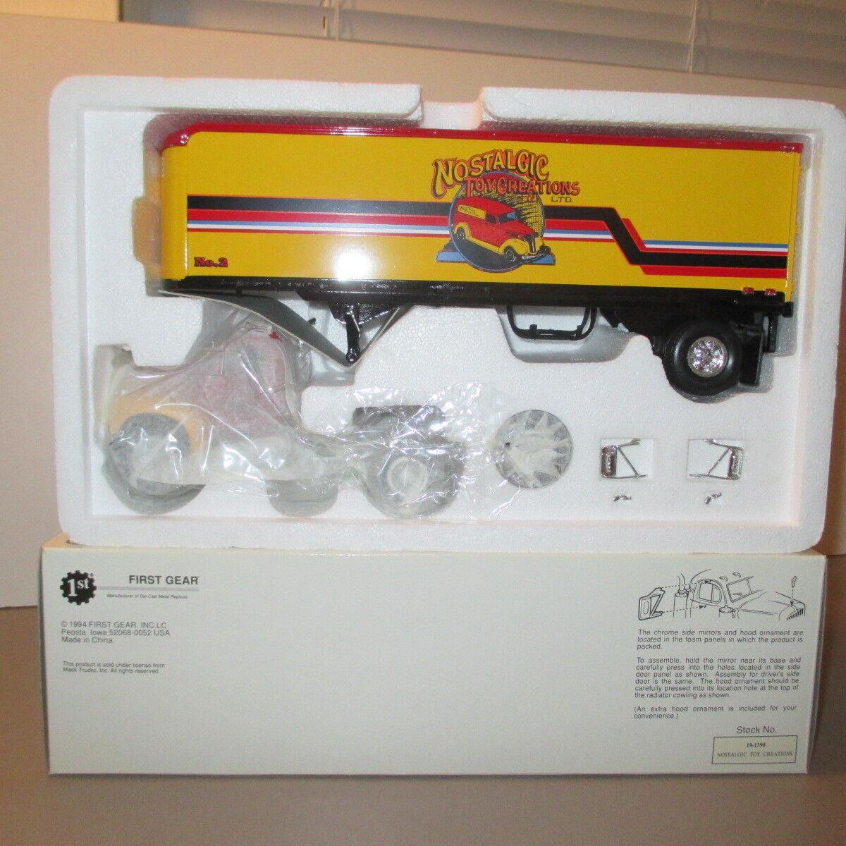 First Gear 1960 Model B 61 Mack Tractor Trailer Nostalgic Toy Hotwheels Vw Drag Bus Mnm Rare Norton Secured Powered By Verisign