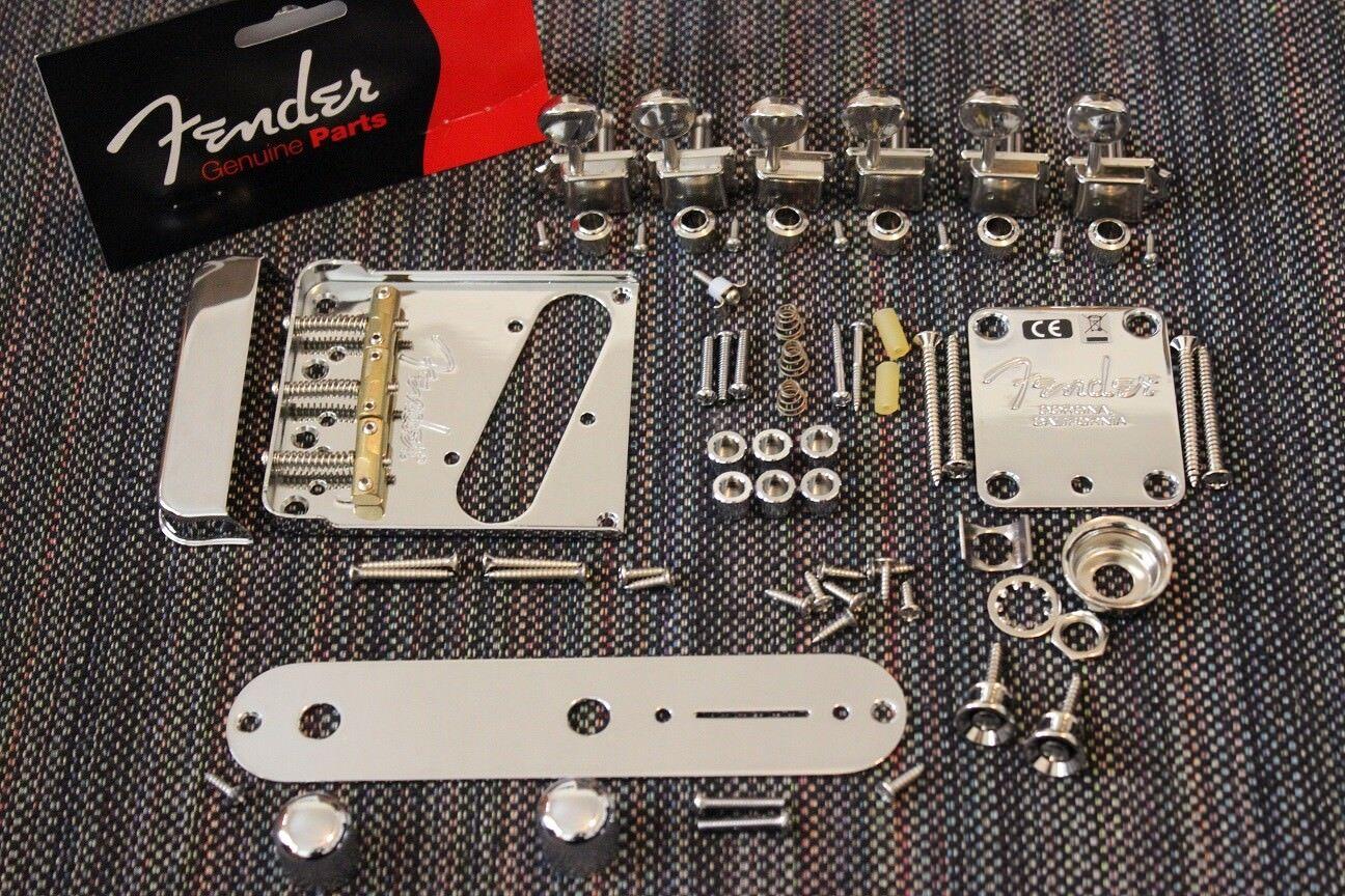 FENDER Telecaster American Professional Cromo Cromo Cromo Telecaster Hardware Set con sintonizadores  el estilo clásico