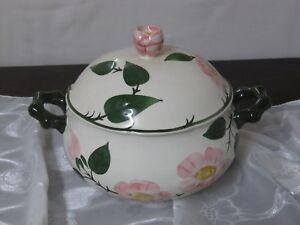 Kaffeegedeck 3 teilig Villeroy & Boch Mettlach Wildrose Handgemalt Ceramika Antyki i Sztuka