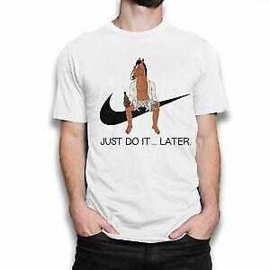 BoJack Horseman Whiskey T-Shirt Black Cartoon Tee, XXXL - Male