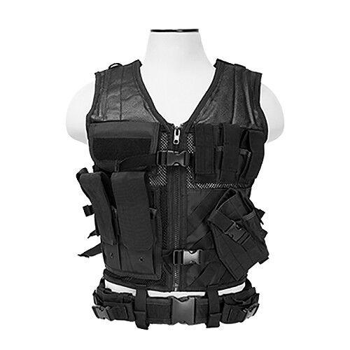 NcStar CTV2916B Tactical Vest - Medium / XL - Black