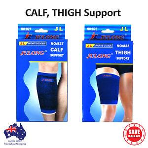 1Pair-Elastic-Stretch-Thigh-Calf-Shin-Support-Brace-Guard-Pain-Strap-Compression
