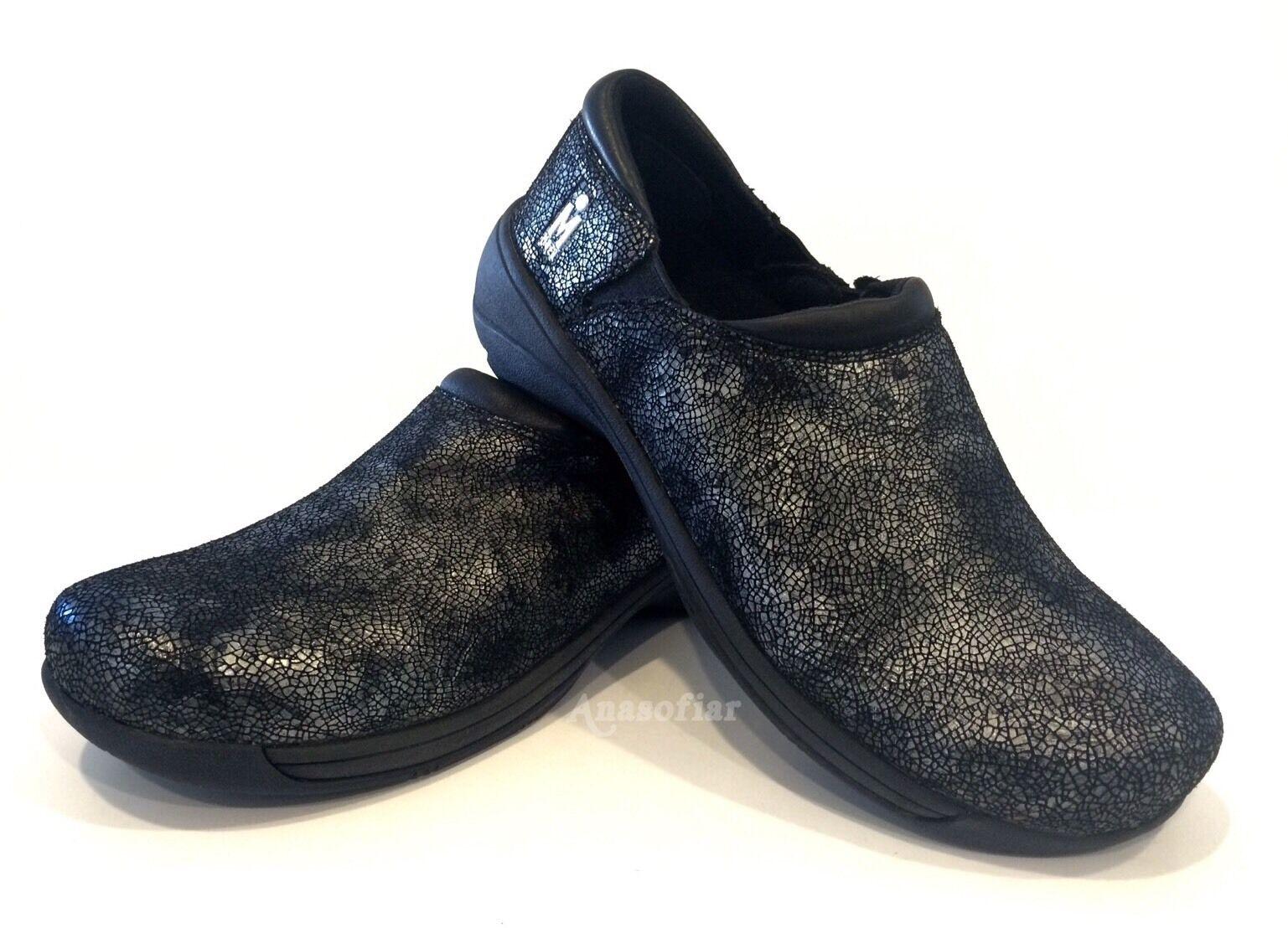 MOZO FORZA SWIRL WORK Schuhe WATER SLIP SLIP WATER RESISTANT LEATHER BLACK WOMEN'S US 11 a5394f