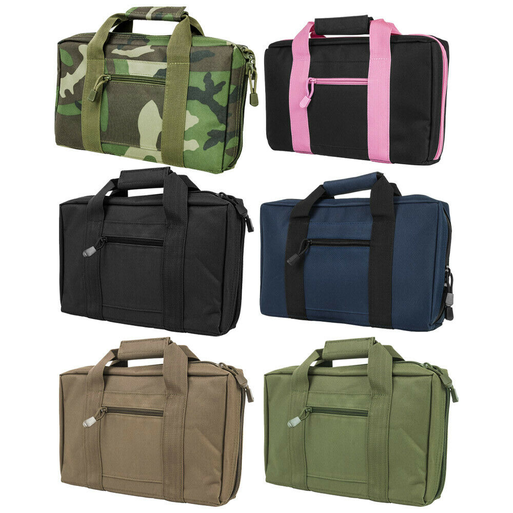 NcSTAR Tactical CPBPK2903 Vism Discreet Pistol Case//black Pink Trim for sale online