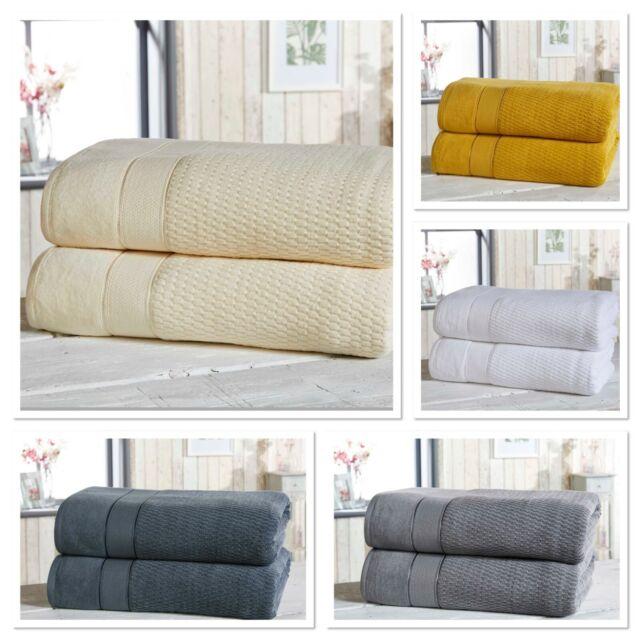 Rapport 100/% Cotton Spa 2pk Bath Sheet Towel Bundle 4 Colours Available
