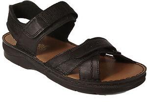 Details zu RIEKER Schuhe Sandalen Sandaletten schwarz Keilsohle Plateau echt Leder NEU