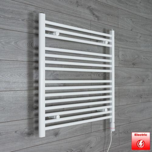 800 mm High 900 mm Wide Flat White Heated Towel Rail Radiator Bathroom Kitchen