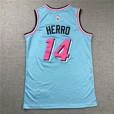 Los Hombres de Jersey Miami Heat # 14 Tyler Herro Camiseta de Baloncesto Corrientes Ocasionales los Hombres del Jersey De Secado r/ápido de la Camiseta de Manga Corta Floja