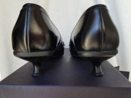 Scarpe Spazzolato condizione nera Prada pelle Buona Tacchi 37 Eu in 64Rxrq6n