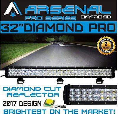 "#1 7D 32"" DIAMOND PRO SERIES LED Light Bar Flood/Spot Combo Beam CREE 180w"