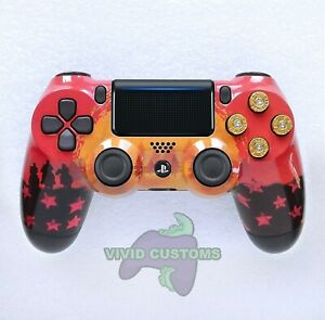Custom PlayStation 4 versión 2 Dualshock controlador PS4 Slim/Pro-red Dead...