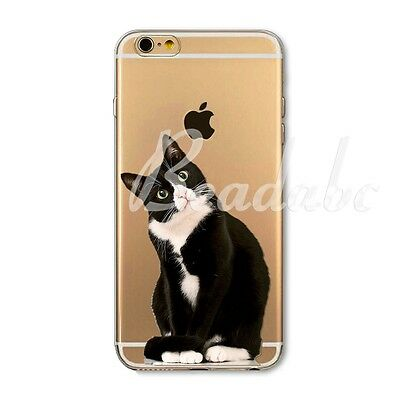 For iPhone 4 4S 5C 5S 6 6S 6SPlus Cases Thin Soft TPU Clear Cover Animal Printed