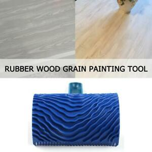 Details about Blue Rubber Wood Grain Paint Roller Brush DIY Graining  Painting Tool w/ Handle