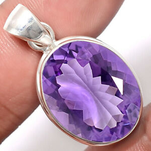 Faceted-Top-Grade-Amethyst-Africa-925-Sterling-Silver-Pendant-Jewelry-SDP48167