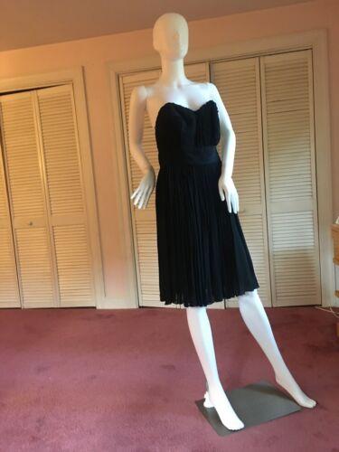 Prada Black Strapless Dress Size 42, Bustier, Plea