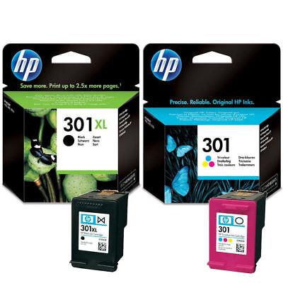 Original HP 301XL Black & 301 Colour Ink Cartridge For DeskJet 3050 Printer