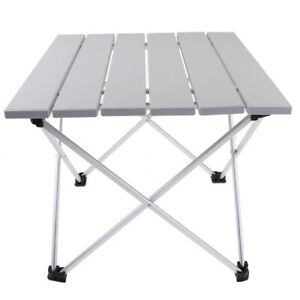 Tavolo Da Campeggio Richiudibile.Dettagli Su Tavolo Da Picnic Da Campeggio Pieghevole In Alluminio Per Esterni Con Comoda