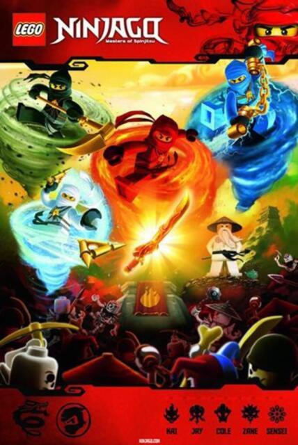 lego ninjago spinjitzu kai jay cole zane sensei kids movie poster 24x36 - Ninjago Spinjitzu