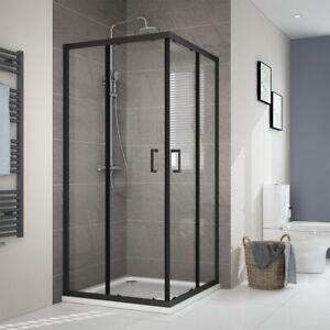 Gut bekannt Duschkabine Schiebetür Dusche Schwarz Duschwand Nano Glas 100x100 RR31
