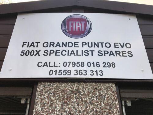 FIAT GRANDE PUNTO EVO STEERING WHEEL AIR BAG 09 ON MINT CON YELLOW /& GREEN PLUGS