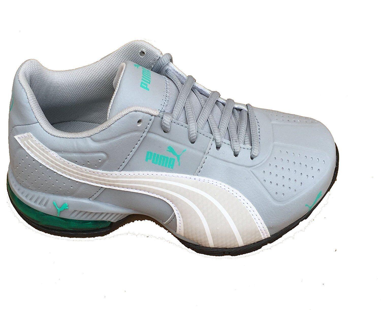 Puma cella delle donne surin cava, grigio e bianco bianco bianco verde atheletic piscina scarpe (9,5) 5b3675