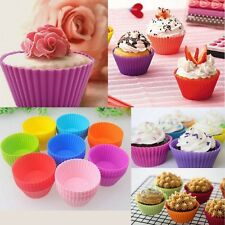 8pcs/Set Soft Silicon Colorful Cake Muffin Cupcake Mold Round Shape Baking Mould