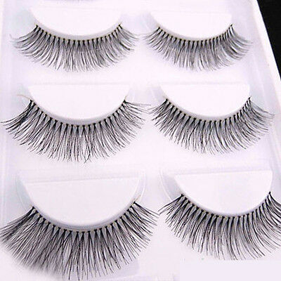 New Hot 5 Pairs Sparse Cross Eye Lashes Extension Makeup Long False Eyelashes