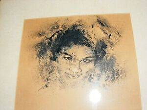 VINTAGE-INK-PEN-PAINTING-PORTRAIT-OF-BLACK-WOMAN-BY-IMRE-HOFBAUER-SIGNED-1974