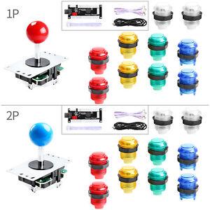 20X LED Button 2-Player DIY Arcade Kit,2X USB Encoder Blue/&Green 2X Joystick