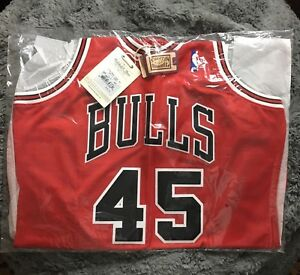 size 40 8b120 521a4 Details about CHICAGO BULLS MICHAEL JORDAN #45 MITCHELL & NESS 94-95  HOMECOMING AUTHENTIC 44L