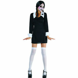 wednesday addams halloween costume wednesday creepy school s 30530