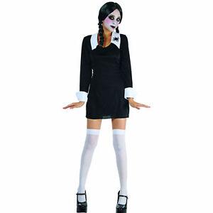 Wednesday Addams Creepy School Girl Women's Halloween Costume | eBay