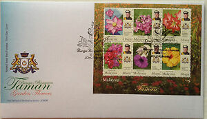 Malaysia FDC Miniature (25.02.2016) - Definitive Series - Johor Garden Flowers