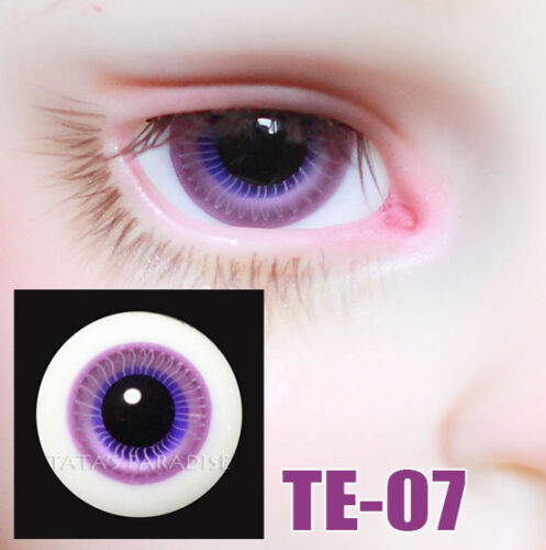 TATA glass eyes TE-07 16mm for BJD SD MSD 1//3 1//4 size doll use purple+blue