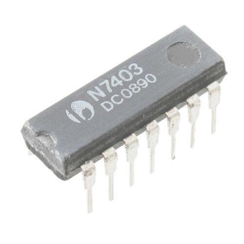 SN7403 NAND-Gatter 4-fach 2 Eingänge DIP14